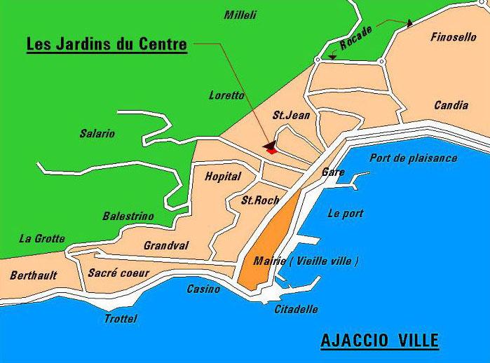 Plan Du Centre Ville D Ajaccio